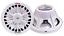 Water Resistant Magnet Speaker 8-Inch 400 Watt Subwoofer Cone White 4 Ohm Marine