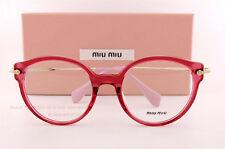 Brand New Miu Miu Eyeglass Frames MU 04PV U68  Red For Women Size 52