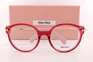 efdf962d87 Brand New Miu Miu Eyeglass Frames MU 04PV U68 Red For Women Size 52 ...