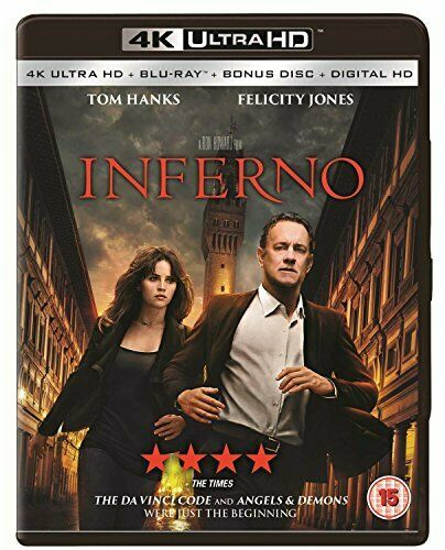 Inferno (4K Ultra HD Blu-ray + Blu-ray + Blu-ray Bonus Disc) [2016] [DVD]