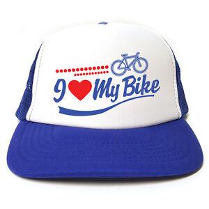834753de88300 Image is loading I-Love-My-Bike-Cycling-hat-Funny-Retro-