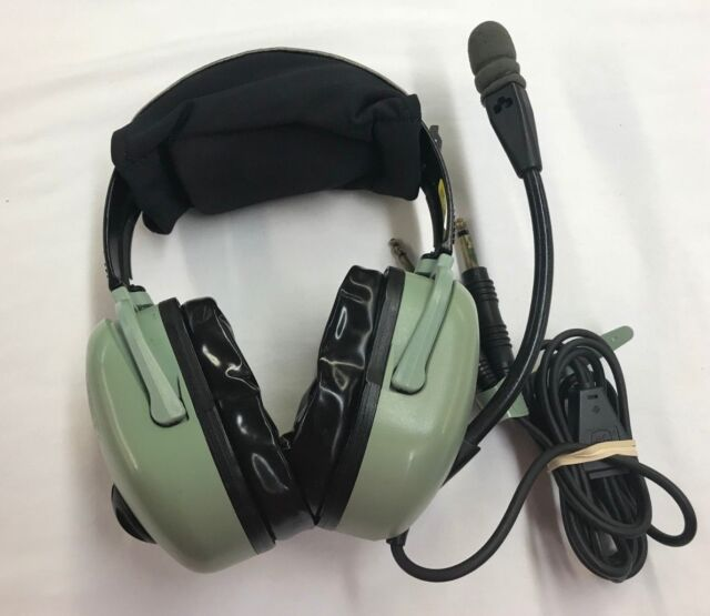 a8235904c60 David Clark H20-10 Aviation Headset - Black   Green ...