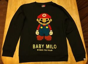 d7b2a7c8f RARE Mens A Bathing Ape Baby Milo Super Mario Sweater Large