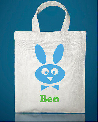 PERSONALISED SMALL TOTE BAG - EASTER EGG HUNT BAGS 20CM x 25CM
