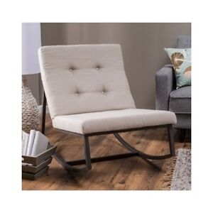 Image Is Loading Upholstered Rocking Chair Tufted Baby Rocker Nursery Furniture