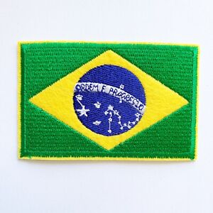 Brazi Flag Head Embroidered Sew or Iron on Patch Badge Patches For Sewing