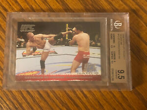 2009 Topps UFC Round 1 Georges St Pierre RC Silver 228/288 BGS 9.5 Rookie