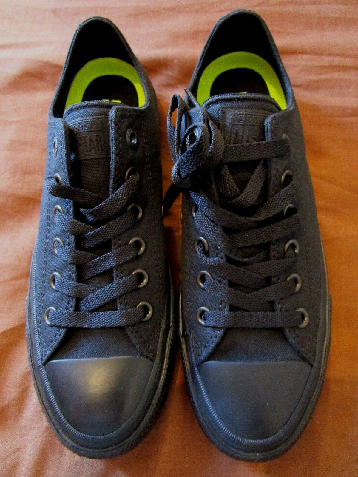 NEW GENUINE MENS CONVERSE BLACK BLACK OX LOWS CHUCK II SIZE 6 EU 39  24.5cm CAN