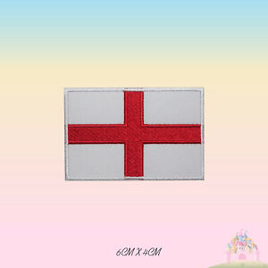England National Flag Embroidered Iron On Patch Sew On Badge