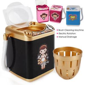 Mini-Electric-Washing-Machine-Kids-Dollhouse-Toy-Makeup-Brushes-Cleaner-Washer