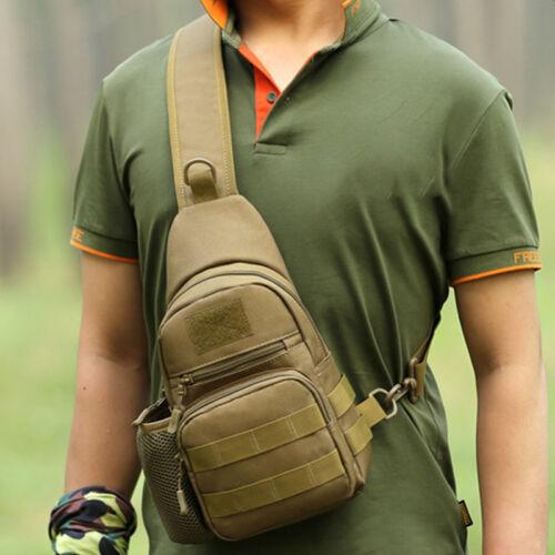 Mens Canvas Chest Bag Messenger Travel Hiking Cross Body Backpack Rucksack Bags
