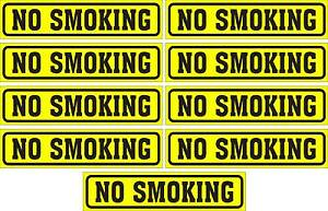 LOT-OF-9-GLOSSY-STICKERS-034-NO-SMOKING-034-FOR-INDOOR-OR-OUTDOOR-USE