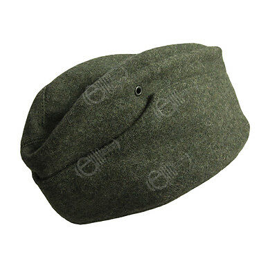German Army M34 Heer Field Grey WOOL SIDE CAP - All Sizes WW2 Repro Overseas Hat