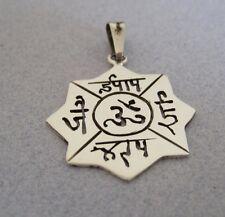 Ohm Mani Padme Hum Prayer Wheel Mantra Yoga Buddhist Buddha 925 Silver Pendant