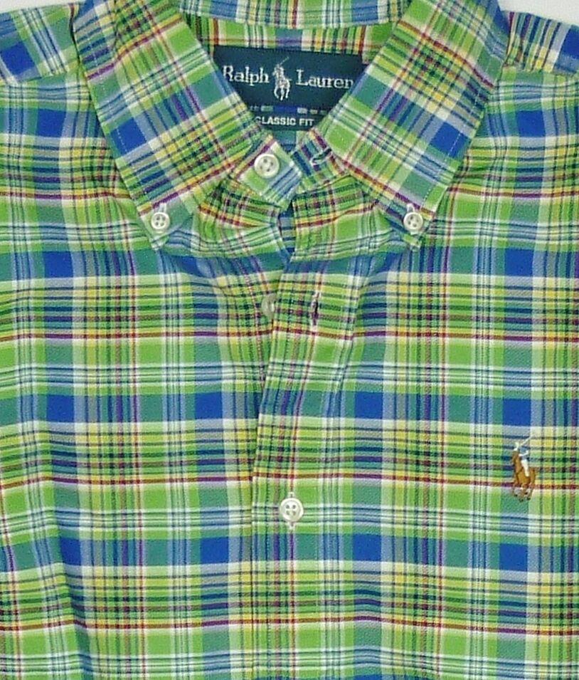 POLO RALPH LAUREN uomo PIN-Point Oxford Sport Camicia Taglia Small UK38  vendita