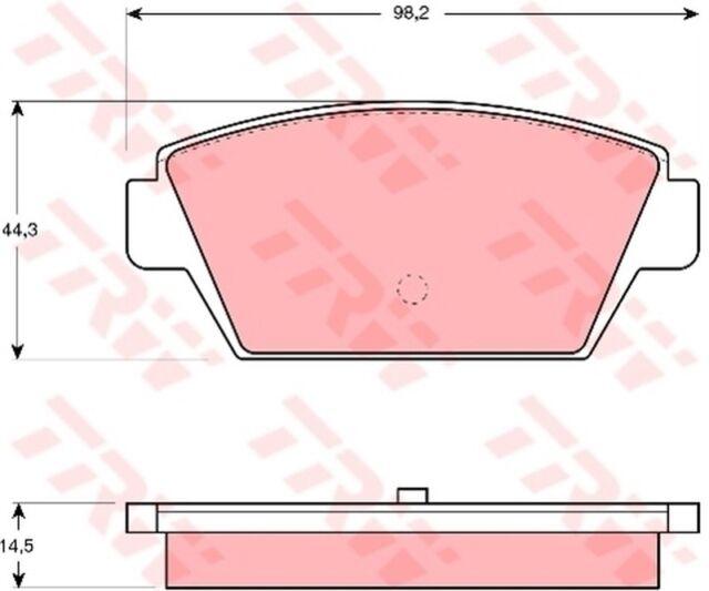 Bremsbelagsatz Scheibenbremse TRW GDB945 hinten für MITSUBISHI GALANT 4 3 LANCER