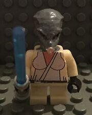 Lego Star Wars Custom Short Alien Jedi Knight with blue light saber