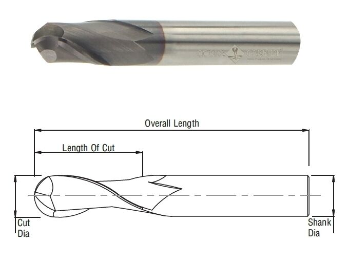 Cobra Carbide 24644 13 MM Carbide End Mill 4 FL TIALN Metric OAL 89 MM