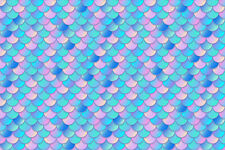 Mermaid Htv Heat Transfer Vinyl Print Scale Pattern Shirt Craft Sheet 18 X 12