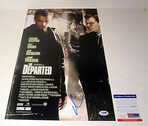 Matt-Damon-The-Departed-Signed-Autograph-Movie-Poster-PSA-DNA-COA