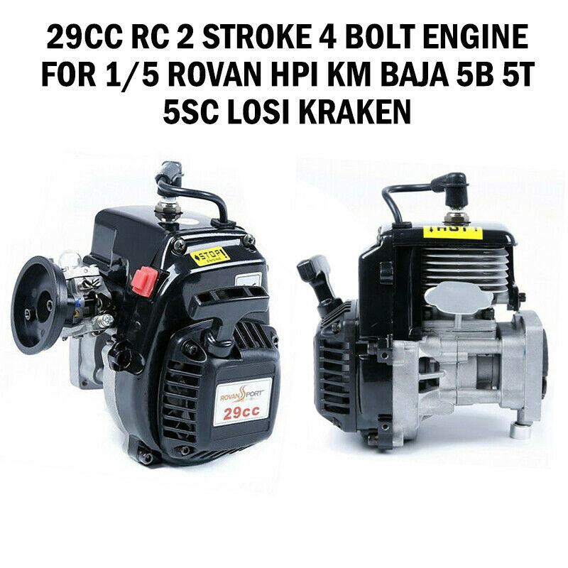 29cc RC 2 stroke 4 bolt Engine for 1 5 rovan hpi km baja 5b 5t 5sc Losi Kraken y