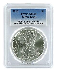 2013-1oz-American-Silver-Eagle-PCGS-MS69-Blue-Label