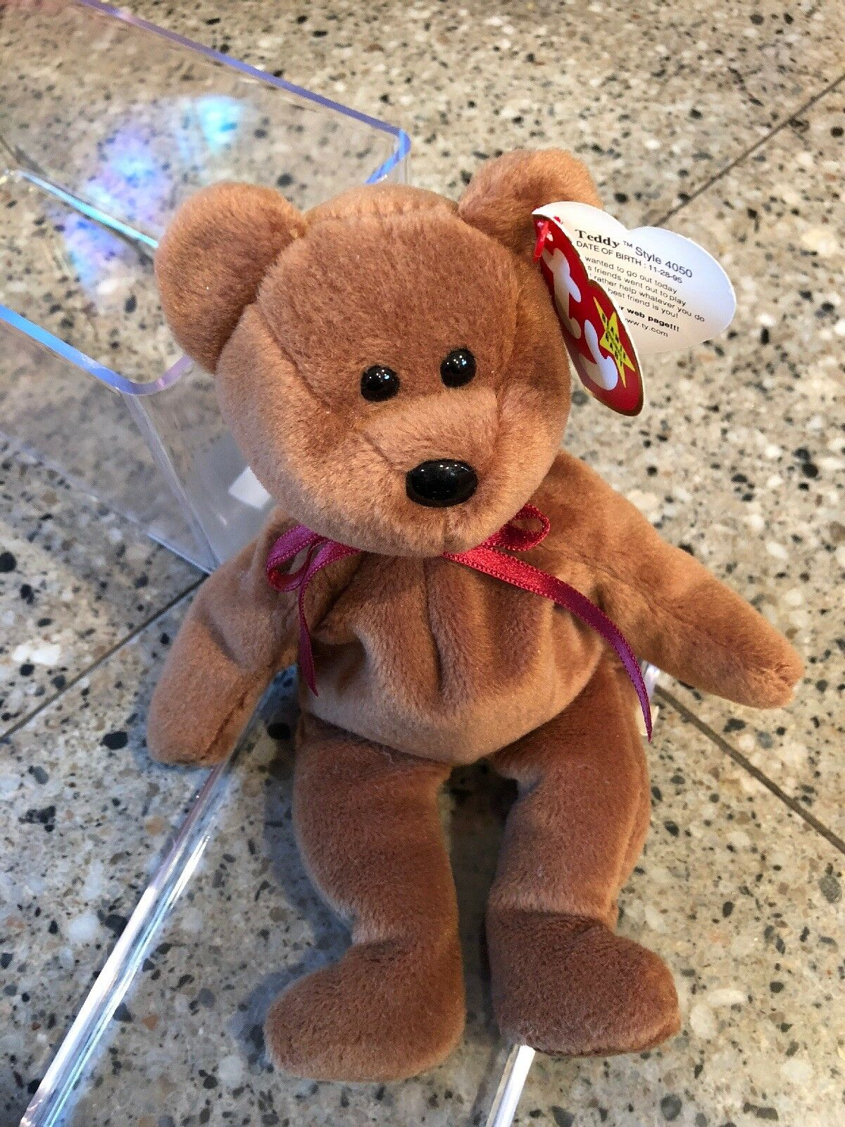 Ty Ty Ty beanie babies 1995 teddy Mint Condition 78303c