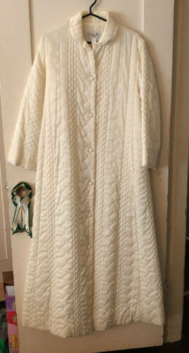 Vintage Women's Christian Dior Quilted Robe Long H