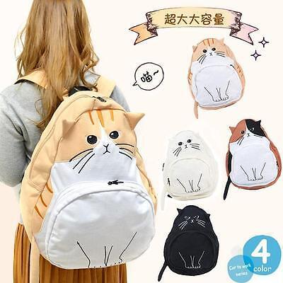 Cute Mori Girl Lotte Superfrog Kitty Simple Cat Ears Backpack Bag Kawaii 2016