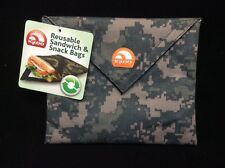 Digital Camo Igloo Reusable Sandwich & Snack Bags Green Brown PVC Free Washable