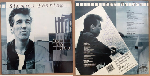 Stephen Fearing Out to Sea Autographed on back of sleeve UK LP