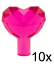NEW. LEGO: Trans Dark Pink Rock Jewel Heart 15745 X 10