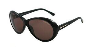 866145899a626 Tom Ford Geraldine Sunglasses Black Frame Brown Lens FT0202 01J 62 ...