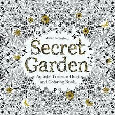 SECRET GARDEN AN INKY TREASURE HUNT AND COLORING BOOK NEW ADULTS JOHANNA BASFORD