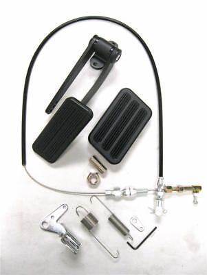 Billet Aluminum Gas Pedal// Brake Pad Black Throttle Cable Bracket Spring Kit