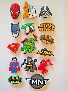 4d33cd478ee10e Image is loading Jibbitz-Croc-Clog-Shoe-Charm-Accessories-Batman-Superman-