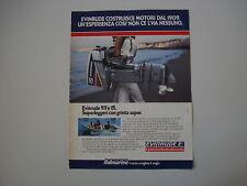 advertising Pubblicità 1982 MOTORE FUORIBORDO EVINRUDE 15