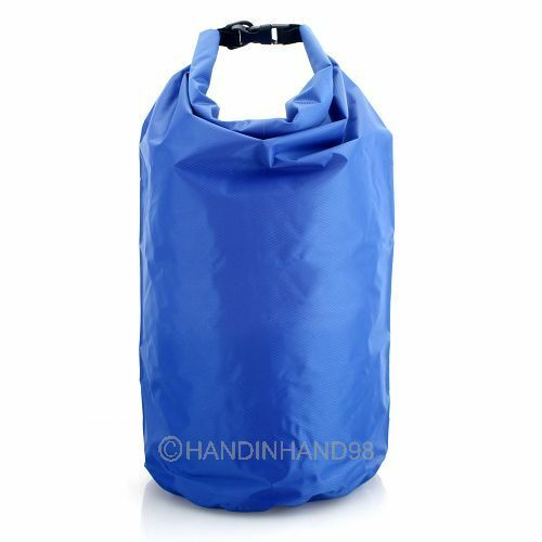 NEW Waterproof Blue Watertight Dry Kit Bag For Floating Boating Camping Hiking
