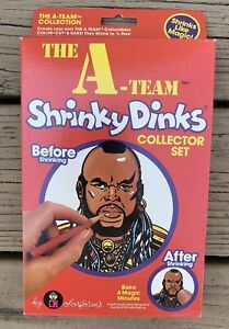 Shrinky-Dinks-THE-A-TEAM-Collector-Set-Mr-T-Hannibal-Colonel-NEW-UNOPENED-VTG