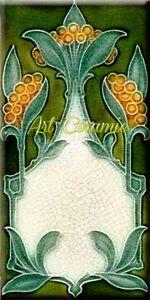 Art Nouveau Reproduction 3 X 6 Inches Ceramic Wall Tile #000035