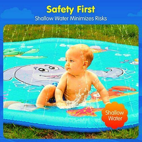 Water 170cm Inflatable Spray Cushion Summer Kids Play Pad Mat Lawn Games Splash