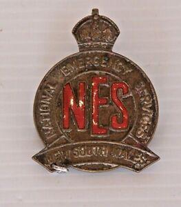 VINTAGE-NATIONAL-EMERGENCY-SERVICES-NSW-METAL-BADGE-LAPEL-HAT-COAT-CAP-TIE-PIN