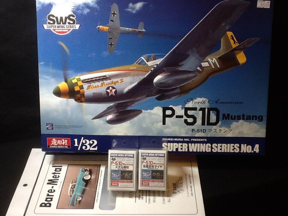 ZOUKEI-MURA 1 32 SWS P-51D Mustang US Navy con il dettaglio Up Parts Ehi