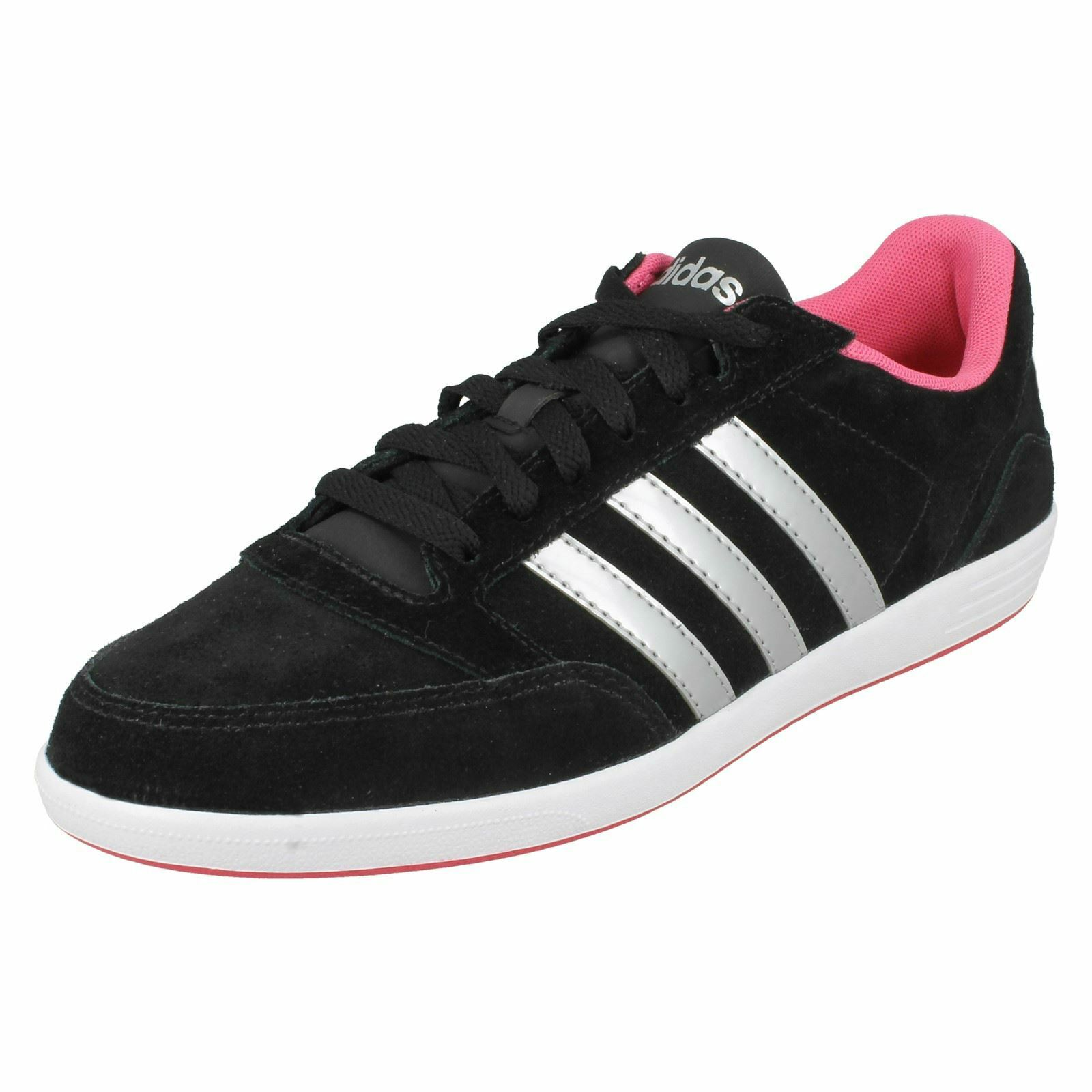 Ladies Adidas Lace Up Sport Trainers Hoops VL W AW5372