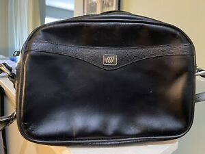 United-Airlines-StewardessBlack-Leather-Vintage-Shoulder-Purse