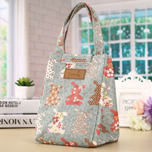 Durable Thermal Insulated Bento Lunch Box Cooler Outdoor Storage Bag Holder