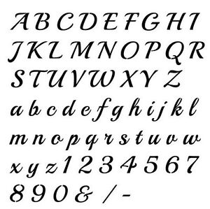 3 Alphabet Letter stencil #171  A Z /& numbers  2 4 5 or 6cm sizes FREE POST