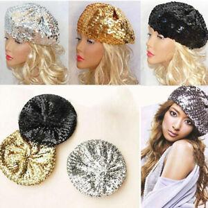 Details about 70 S Retro Vintage Disco Sparkle Sequin Hat Women Hats Beanie  Hat Beret Cap  IN9 8c0e5a0372b
