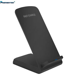 Qi Wireless Fast Charger Charging Pad Stand Dock Galaxy S8+ iPhone X 8 XS XR
