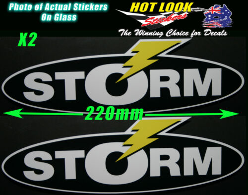 STORM LURES Bait Reel Rod Sticker bomb Decal X2 for Fishing boat  tackle Box